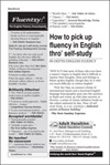How to pick up Fluency in English