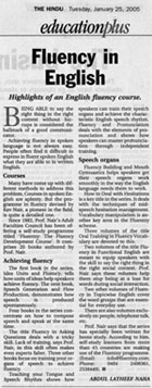 Fluency English Article THE HINDU Kev Nair